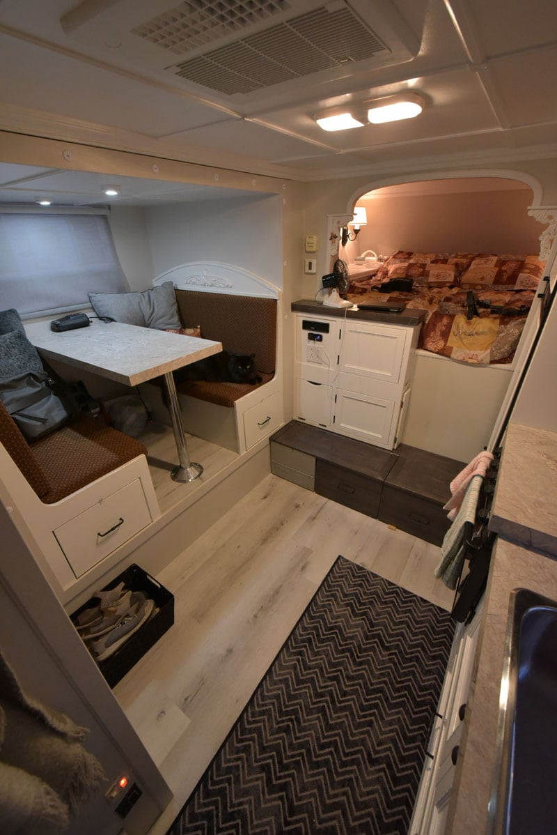 Mercier Custom Camper Interior Floor Space