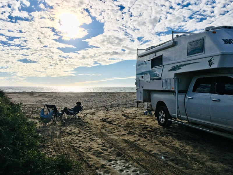 Pull Off On The Beach And Camp Baja