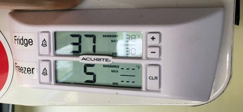 Refrigerator Accurite Temperature