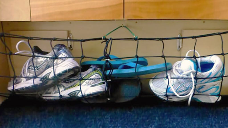 Smart Shoe Storage Solutions For Campers - Truck Camper Magazine