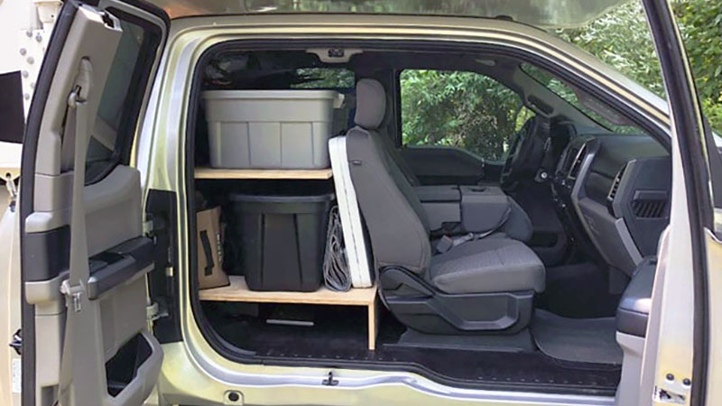 Maximizing Your Truck's Back Seat Storage Area