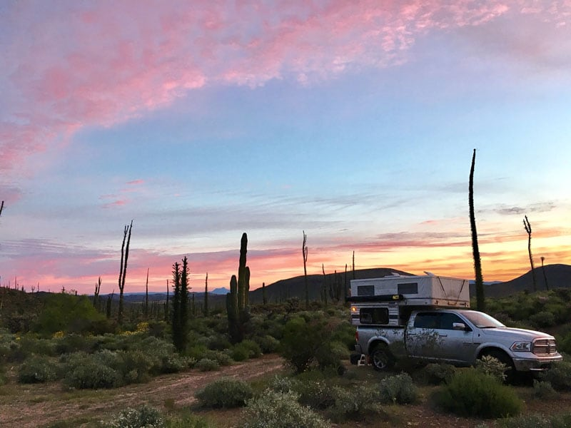 Boondocking along the trans peninsular highway (1) in Baja California near Rancho Descanso