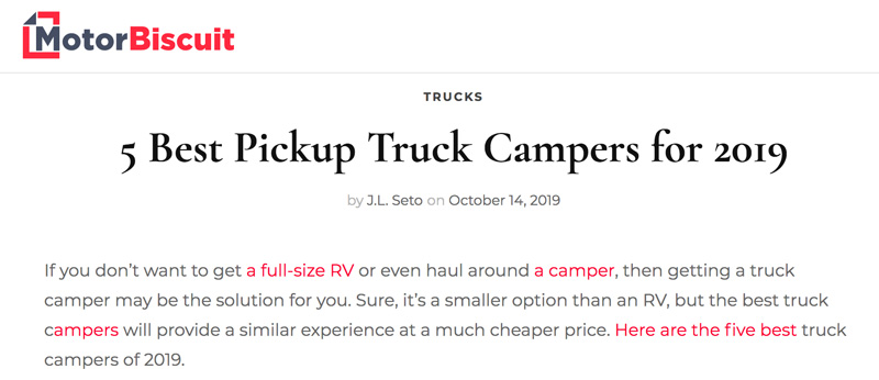 5 Best Pickup Truckcampers