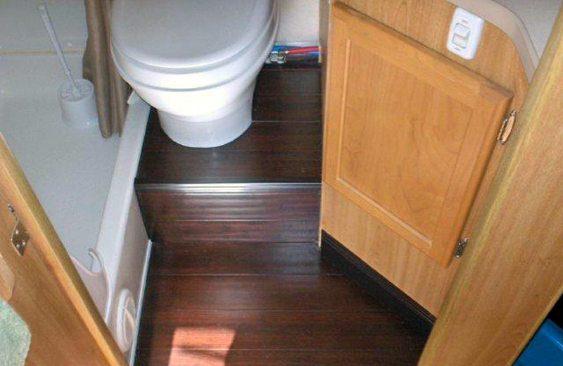 Bamboo Floor In Camper Bathroom
