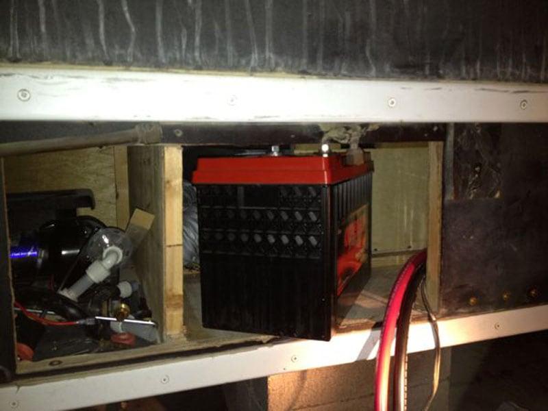 Camper Battery Goes Through Access Door