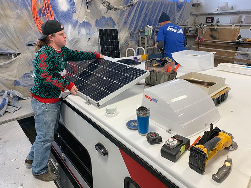 FlexArmor Roof Install Reinstalling Solar Panels