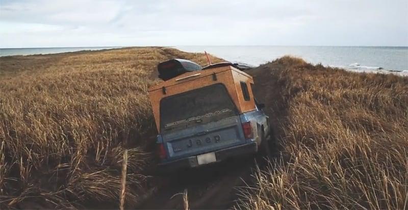 Jeep Popup Camper Through Brush