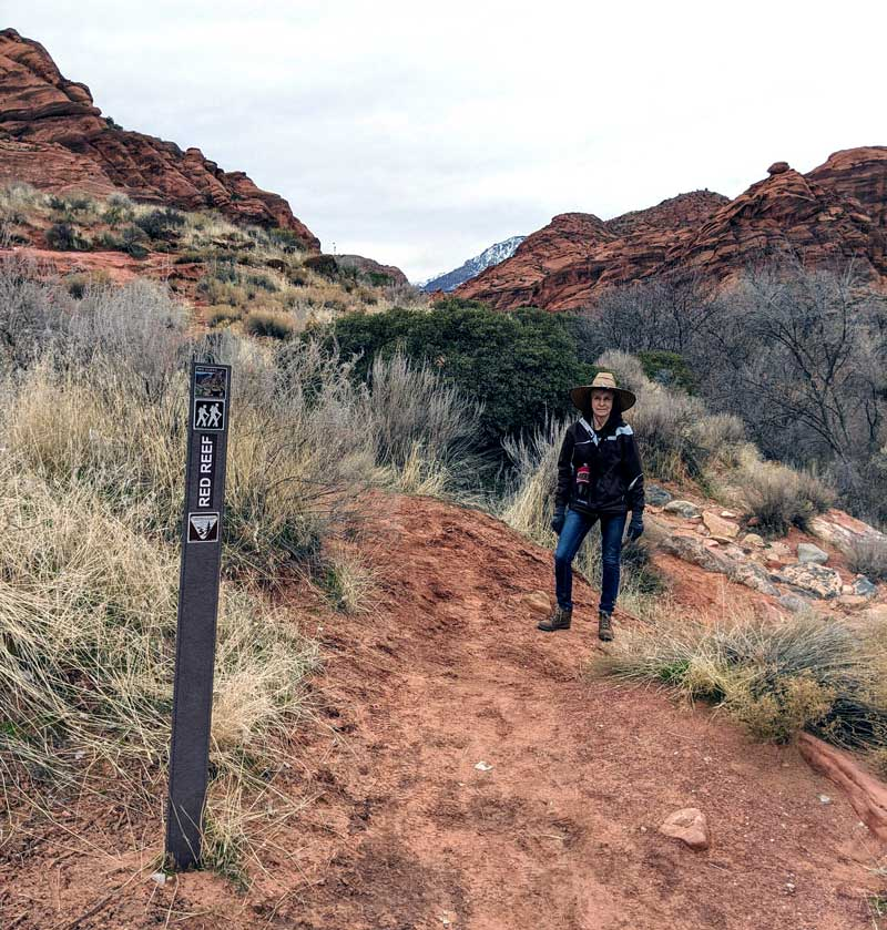 Red Reef Trail Head Is The Route To The Slot Canyon