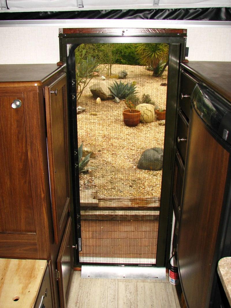 Retractable Screen Door Completed