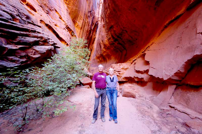 Slot Canyon Along The Burr Trail
