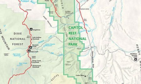 Capitol Reef Park Map Featured Image