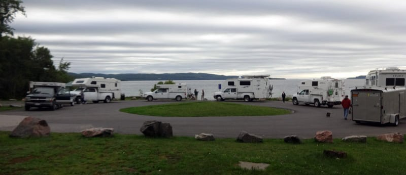 Campers North Shore Of Lake Superior