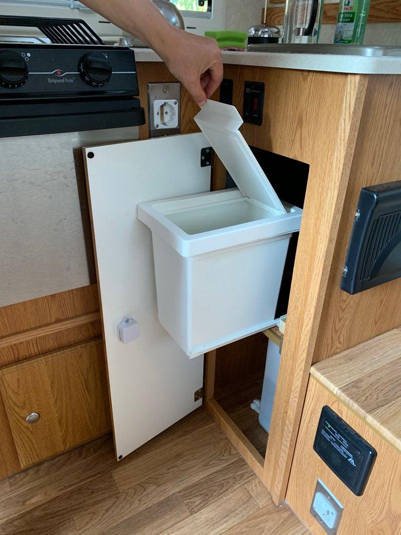 Trash Drawer Under Kitchen Sink