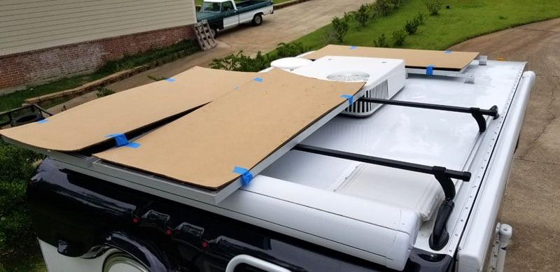 200 Watt Solar Panel Mounting Locations On Truck Camper