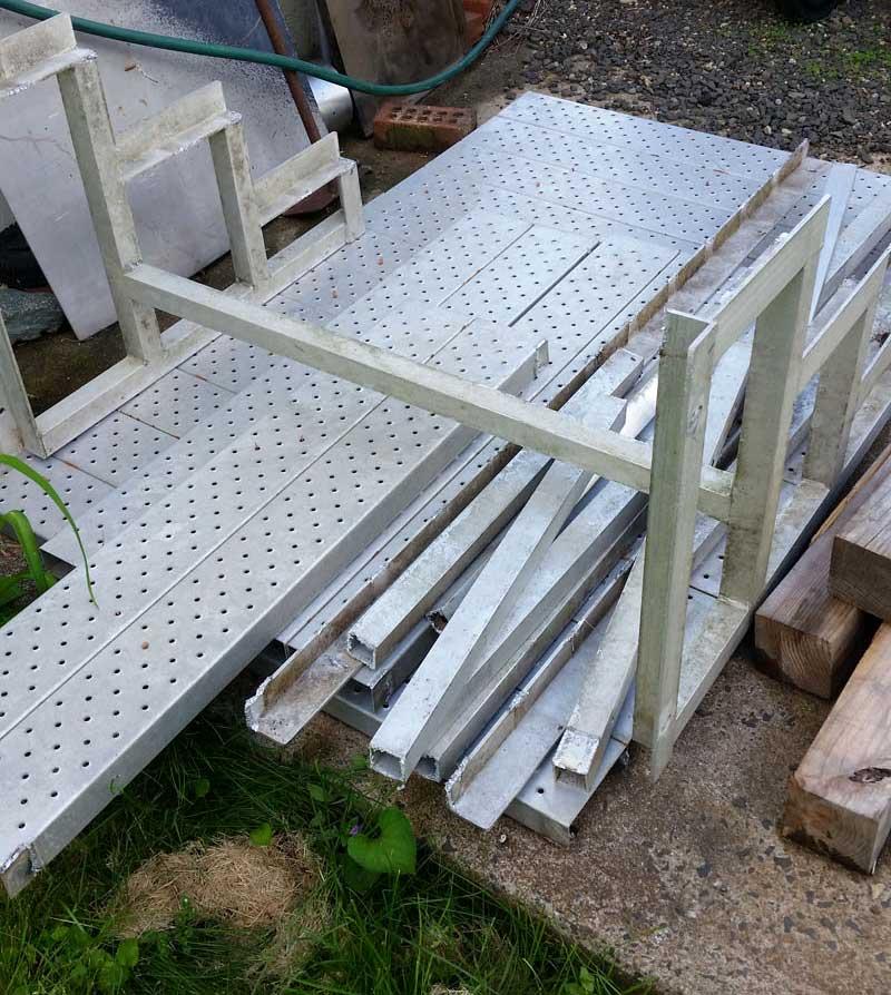 Aluminum Deck Fabrication Project Parts