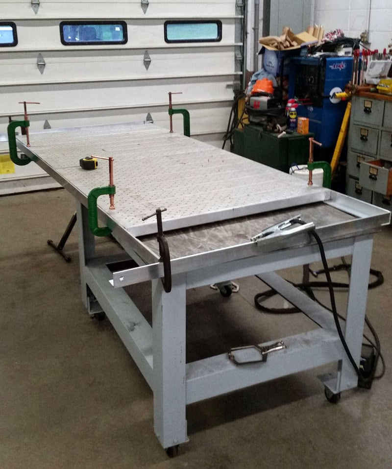 Aluminum Deck Fabrication Project Shop