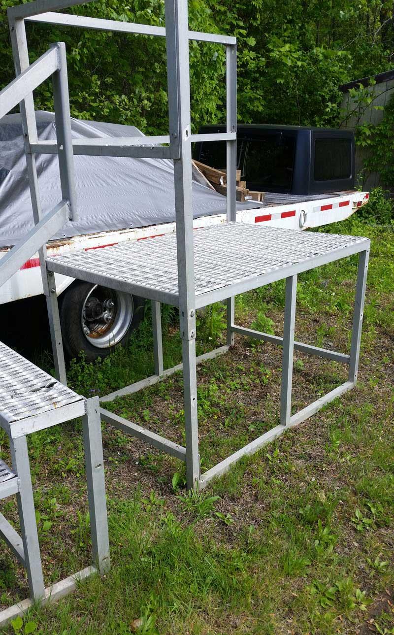 Aluminum Deck Fabrication Project