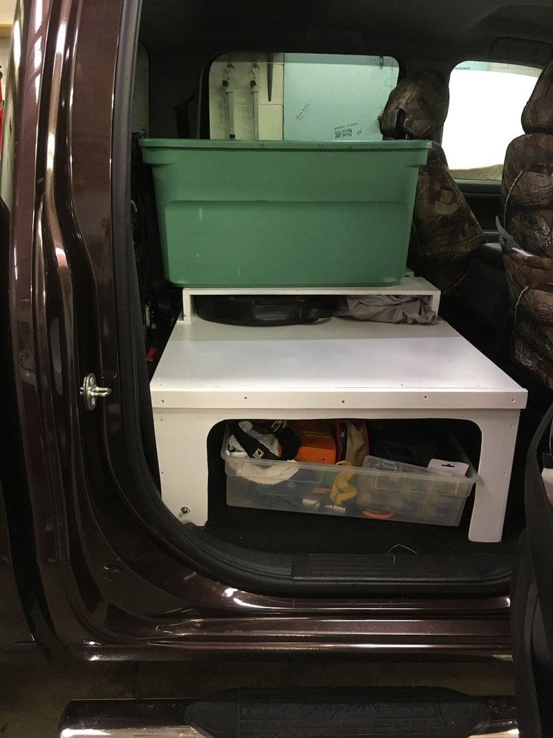 Back Seat Platform For Organized Storage 7