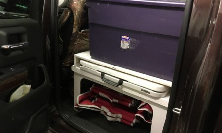 Back Seat Platform For Organized Totes And Chairs