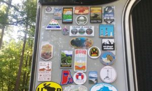 Back Wall Camper Panel For Stickers