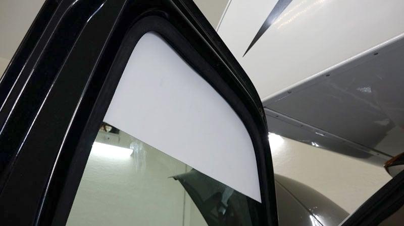 Easy Truck Door Sunshade Partially Down