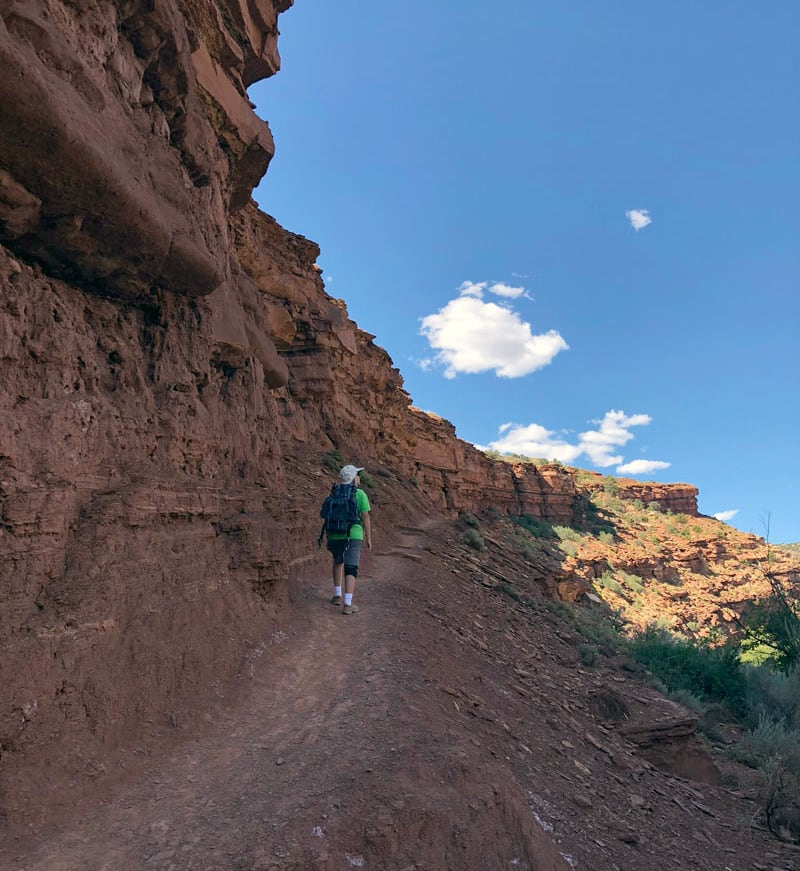 Hiking Along Fremont Trail