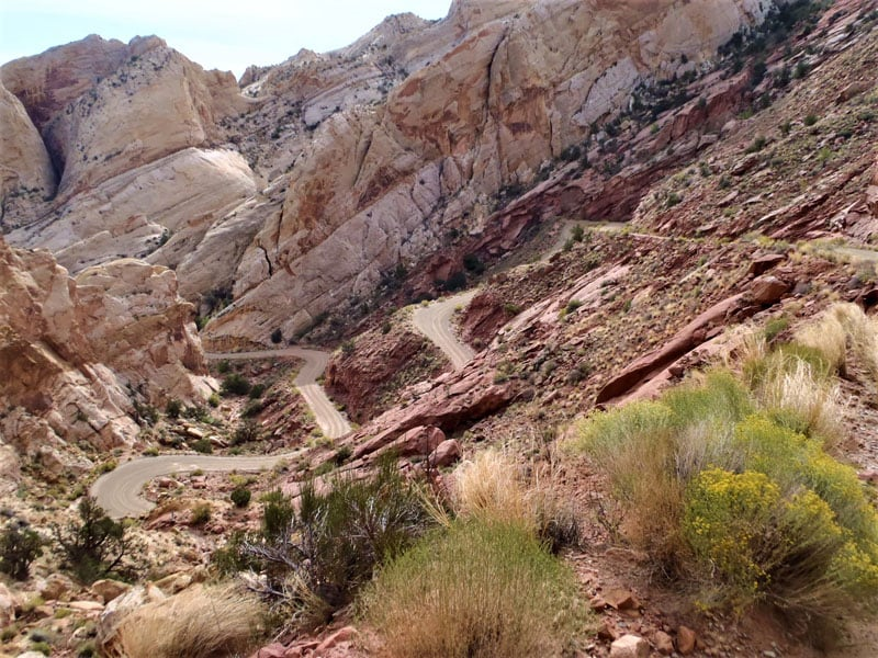 Just A Couple Of The Burr Trail Switchbacks