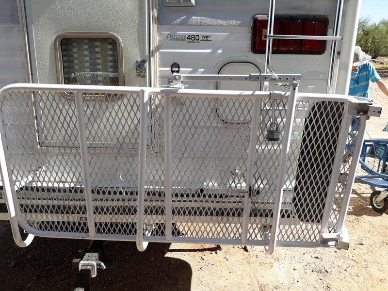 Lance Camper Rear Entry Min Deck Folded Up