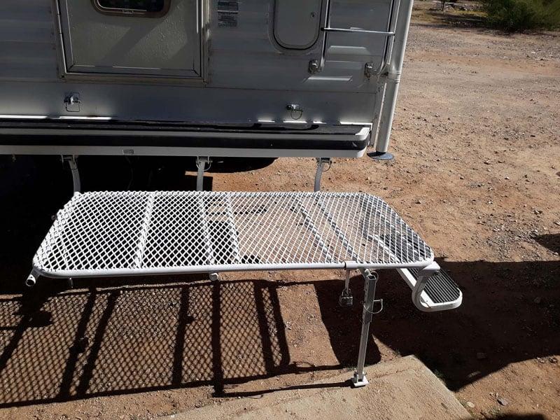 Lance Camper Rear Entry Mini Deck Platform