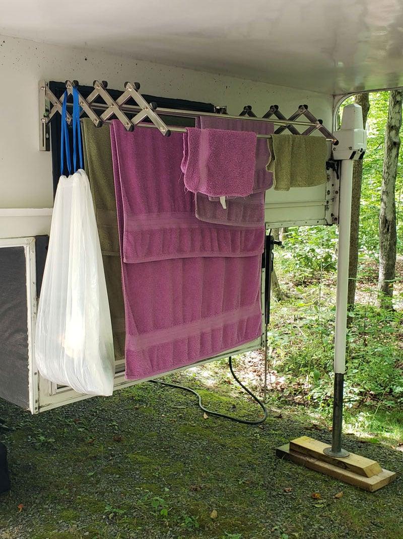Outside Clothes Hanger Under Cabover