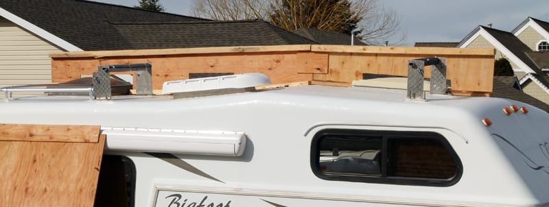 Protective Wood Roof Cover When Winterizing Campers