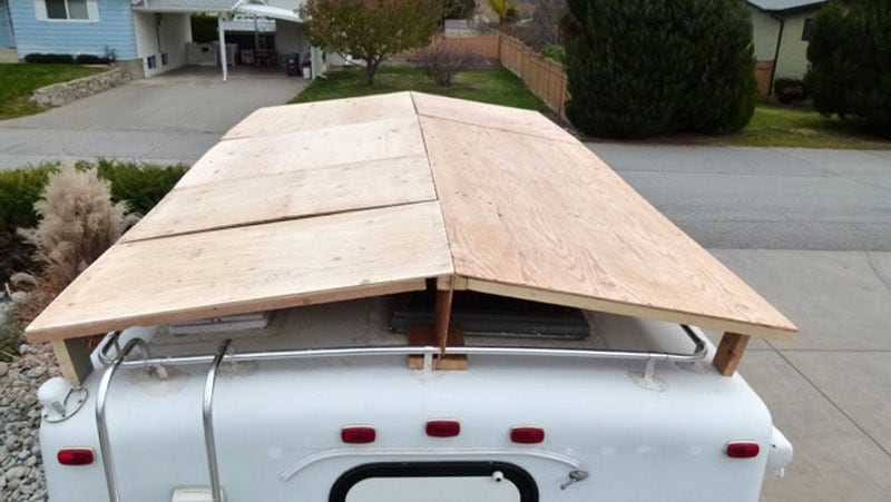 Protective Cover On Camper Roof