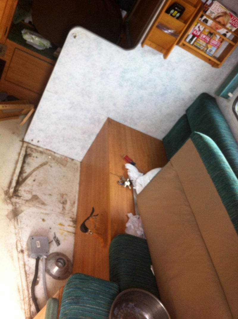 Ripping Up Dinette To Put In Couch
