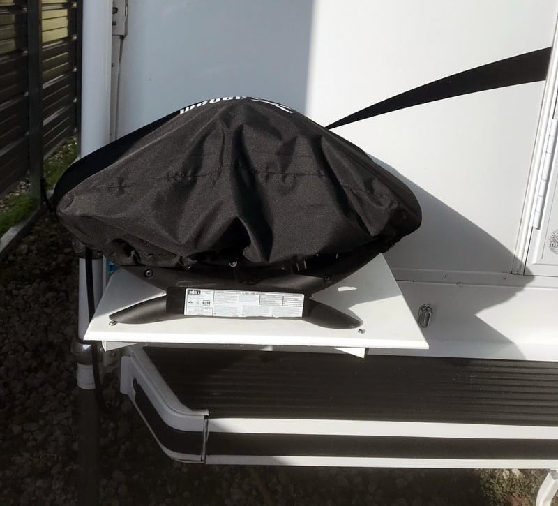 Weber Q1200 Grill Covered