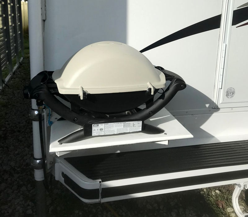 Weber Q1200 Grill Ready To Go Camping