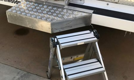 Xtend+Climb's Three Step Aluminum Folding Steps