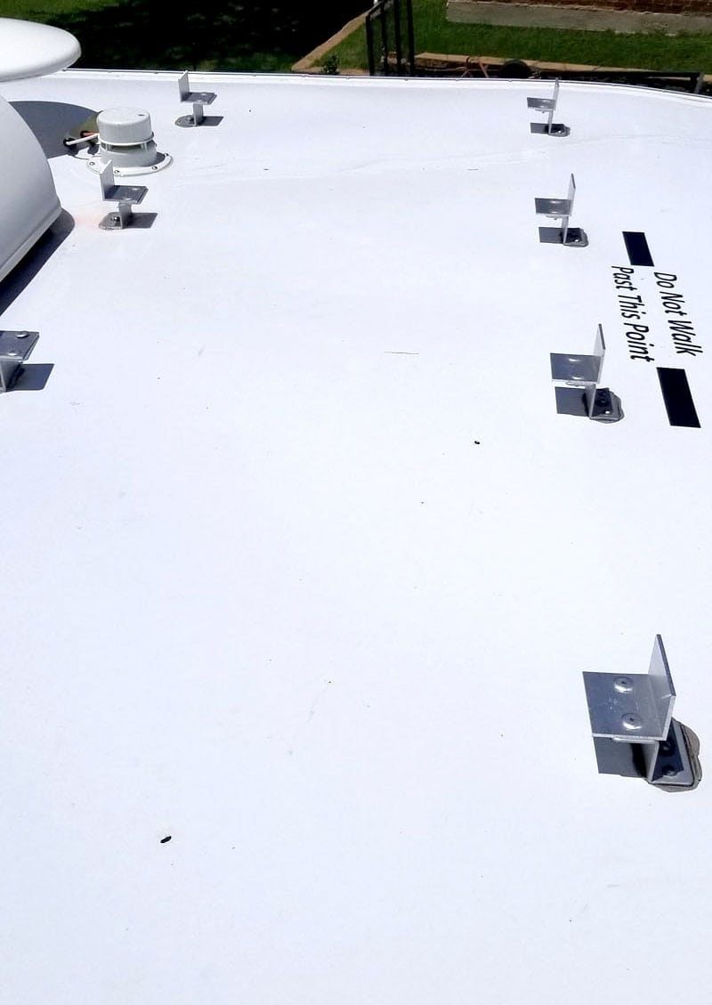 Original Solar Mounts Modified For New 200watt Monocrystalline Panel