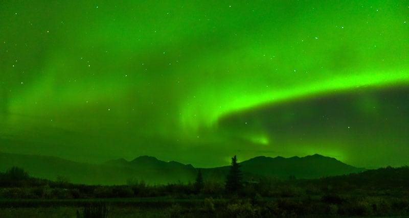 Alaska Range Aurora Borealis