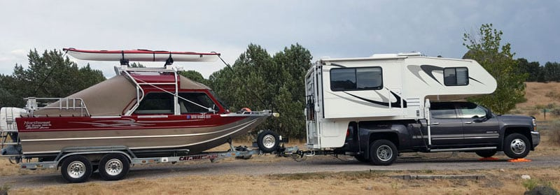 Dave Riddle Host Camper Towing Boat