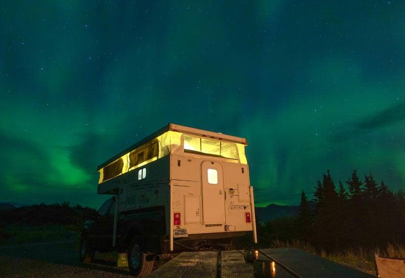 Northstar Camper With Aurora Lights