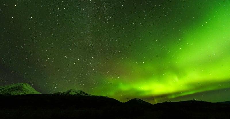 Aurora Borealis Haines Junction In The Yukon