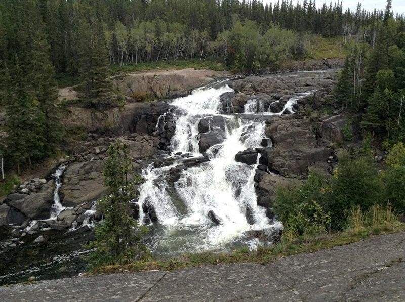 Cameron Falls Near The Ingraham Trail Northwest Territories