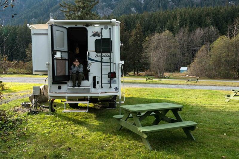 Camping Yukon In Eagle Cap Truck Camper