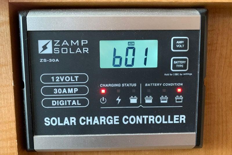 Zamp Solar B01 Error Code Charge Controller