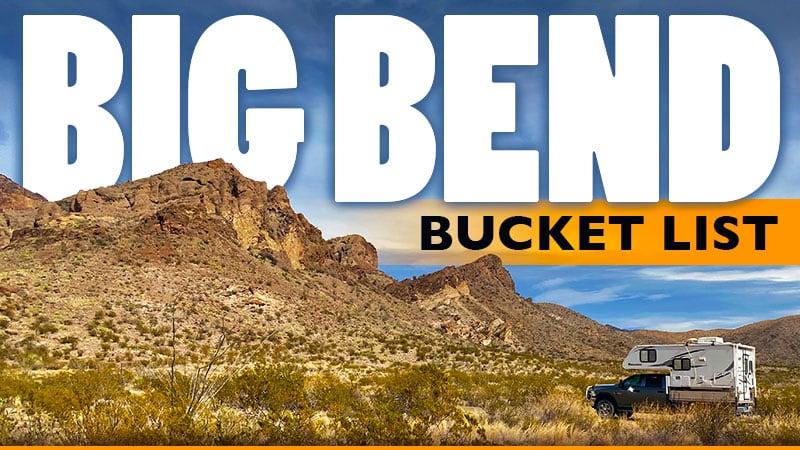 Big Bend Bucket List Texas