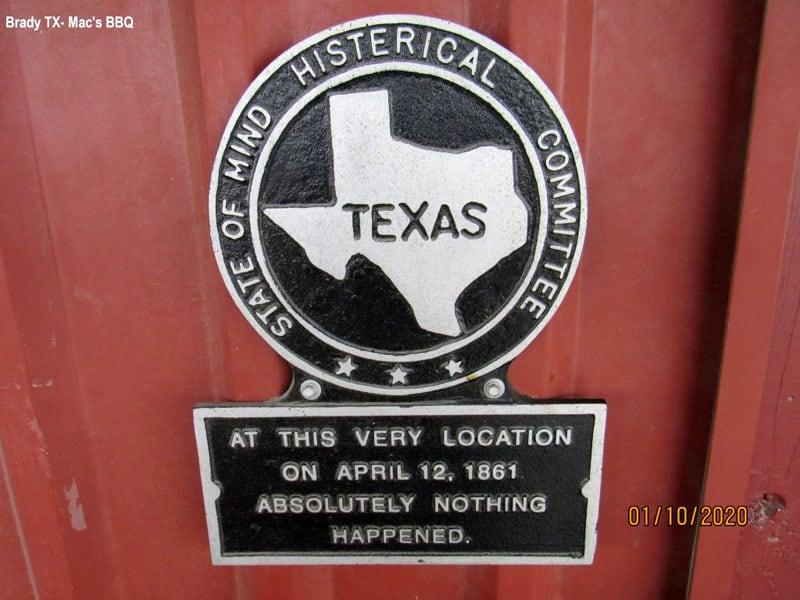 Brady TX Histerical Society