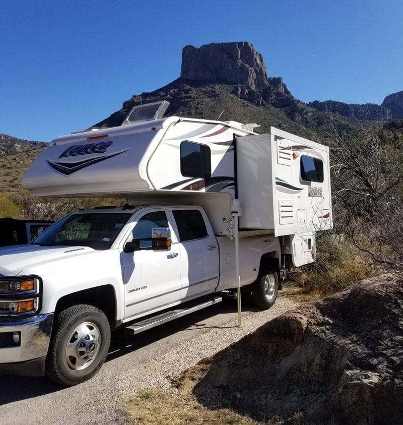 Chisos Basin Campground With Casa Grande In The Background