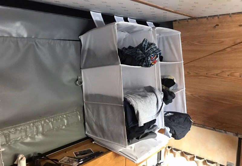 Four Wheel Camper Hanging Storage