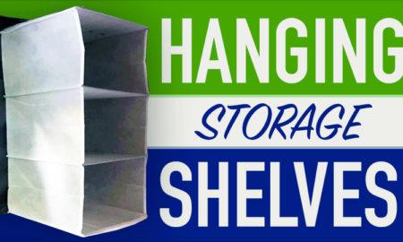 Cloth hanging storage shelves for RVs