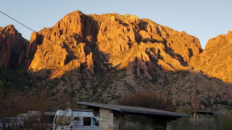 Lightshow From Chisos Basin Campsite